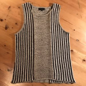 Sanctuary M gray cotton sleeveless sweater